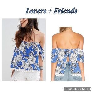 """Lovers + Friends """"life's a beach"""" Floral Blouse"""